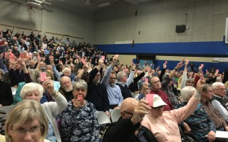 A proposal for a new council on aging facility failed to get the necessary two-thirds majority vote at Monday's annual town meeting. TIM WOOD PHOTO  