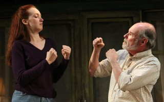"Monica Giordano and Mark S. Cartier in ""Proof"" at Cape Rep. BOB TUCKER/FOCALPOINT STUDIO 