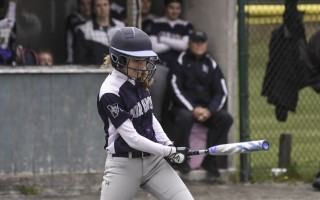 Monomoy's Erica Slade (9) follows through on what became the game-winning hit in the Sharks May 13 contest against D-Y. Kat Szmit Photo  (photo: Kat Szmit)
