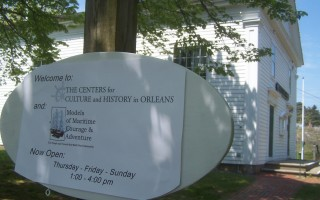 The new Centers for Culture and History in Orleans announces itself outside the Meetinghouse on River Road.  ED MARONEY PHOTO  (photo: Ed Maroney)
