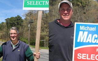 Challenger Stephen Ford, left, and incumbent Michael MacAskill were elected to the board of selectmen Tuesday. WILLIAM F. GALVIN PHOTOS   (photo: )