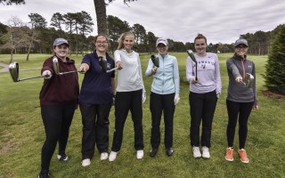 Monomoy's girls golf team, which includes Lara McNeeley, Caitlin Daley, Charlotte Blute, Jane Howard, Caroline Howard, and Jennie Grogan, had a stellar 2019 season that included top performances in the Cape Cod Girls High School Championship. Kat Szmit Photo  (photo: )