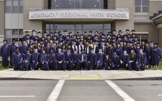 The Monomoy Regional High School Class of 2019 was the first to attend the school for five consecutive years, with 112 seniors graduating on June 2. Kat Szmit Photo  (photo: Kat Szmit)