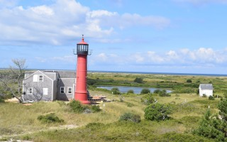 The Monomoy Point Lighthouse and keeper's house, built in 1849, are listed on the National Register of Historic Places. TIM WOOD PHOTO  (photo: Tim Wood)