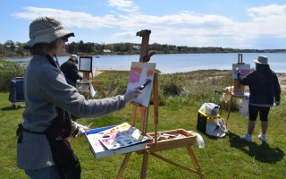 CAC students enjoy a recent plein air class at Oyster Pond taught by John Clayton. TIM WOOD PHOTO  (photo: )