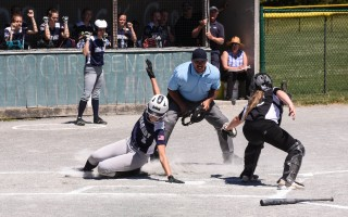 Sam Barr slides under the glove of Bellingham catcher Ryanne Haynes for Monomoy's second run in the D3 South quarterfinals on June 9, with their 2-0 win setting up a trip to the semifinals for the first time since 2017. Kat Szmit Photo  (photo: Kat Szmit)