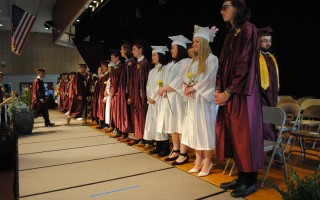 The Class of 2019 lines up on the Tech stage. BARRY DONAHUE PHOTO  (photo: )