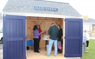 The ribbon-cutting for the new artisan sheds drew a crowd during ArtWeek at the beginning of May. WILLIAM F. GALVIN PHOTO  (photo: )