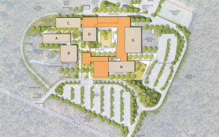 "Option 4A is the building committee's ""preferred schematic"" for the renovated and expanded Nauset Regional High School campus. It preserves the ""open campus"" look for which the school is known.  COURTESY IMAGE  (photo: )"