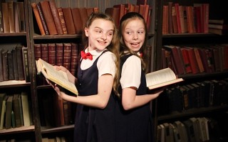"<Caption> Grace Olah and Shae McSharry share the lead role in ""Matilda, the Musical"" at the Cape Cod Theatre Company/Harwich Junior Theatre. MATT KOHLER PHOTO  (photo: )"