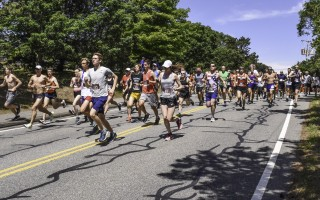 Runners set out on in the 40 th  Chatham Harbor Run on June 30. First place finishers were Ian Nurse and Rebecca Trachsel. Kat Szmit Photo  (photo: Kat Szmit)