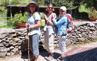 Jamie Neithold-Nash and Susan Carroll, of Chatham, are joined by friend Heidi of Germany on the Camino de Santiago walk in Spain in May, a traditional pilgrimage that dates back centuries. Contributed Photo  (photo: )