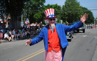 It wouldn't be the Fourth of July in Orleans without Uncle Sam.  BARRY DONAHUE PHOTO  (photo: Barry Donahue)