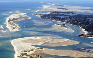 A recent aerial view of Chatham Harbor, looking south. Minister's Point on the right, and the North Inlet (with its S-curve channel) is on the left. SPENCER KENNARD / CAPECODPHOTOS.COM  (photo: Spencer Kennard)