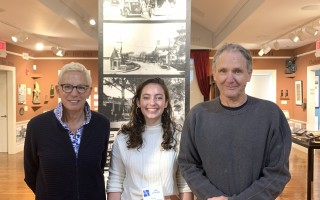 Jane Roiter, Ellie O'Reilly, and Chip Hardy stand in the Main Gallery of the Atwood Museum after meeting each other for the first time. COURTESY PHOTOS  (photo: )