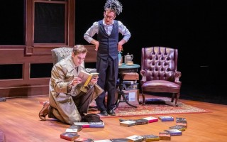 "Sam Krivda and Matthew McGloin in ""Murder for Two"" at WHAT. MICHAEL AND SUZ KARCHMER PHOTO  (photo: Michael Karchmer)"
