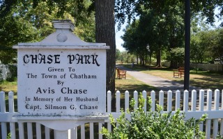 Land off Cross Street was given to the town in 1953 by Avis Chase as a public park in memory of her husband, Captain Silmon G. Chase.  (photo: )
