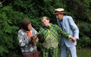 "Molly Funk as Mole, Gracie O'Leary as Toad and Jenn Pina as Rat in ""The Wind In The Willows"" at the Cape Cod Theatre Company/Harwich Junior Theatre. SHILOH PABST PHOTO  (photo: Shiloh Pabst)"