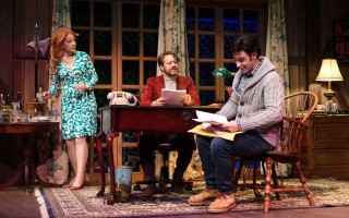"Susan Wands, Robert Petkoff, and Robbie Simpson in ""Deathtrap"" at the Cape Playhouse. Emma Quinn photo  (photo: )"