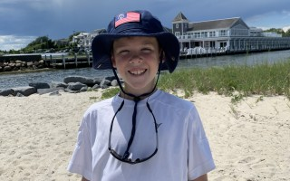 Politically savvy Pete Lipscomb, a 10-year old summer resident of Harwich Port, has taken up the initiative for improved safety along Route 28 from Neel Road to Harwich Port by writing to Gov. Charlie Baker and contributing $50 he raised through sales at his lemonade stand. COURTESY PHOTO  (photo: )