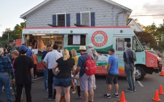 The Mom and Pop's Burgers food truck was at the final Mondays on Main event last month and drew a large crowd. TIM WOOD PHOTO  (photo: Tim Wood)