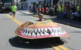 A toothy entry in the Harwich Hometown Parade.  WILLIAM F. GALVIN PHOTO  (photo: William F. Galvin)