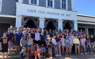 Cape Cod Lighthouse Charter School students visit the Cape Cod Fine Arts Museum. COURTESY PHOTO  (photo: )