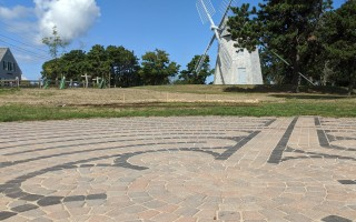 The Chase Park labyrinth, as seen from the direction of a neighboring house. ALAN POLLOCK PHOTO  (photo: Alan Pollock)