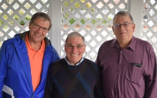 Kurt Shallow, George Lane and Tom Clarke of the Chatham Men's Club. TIM WOOD PHOTO  (photo: Tim Wood)
