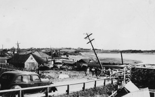 Alton Kenney's boatyard on Stage Harbor after the 1938 hurricane. PHOTO COURTESY OF DAVID OLSON  (photo: )