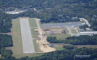 Chatham Municipal Airport as seen from the northeast. Reconstruction of the airport's existing taxiway is now underway. SPENCER KENNARD PHOTO  (photo: )