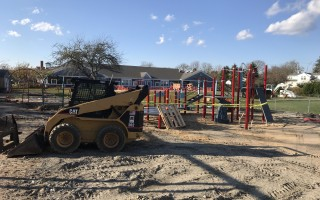 New play structures are under construction at Chatham Elementary School. TIM WOOD PHOTO  (photo: Tim Wood)