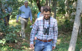 Tyler Maikath of the Harwich Conservation Trust leads a tour of the Cornelius Ponds Woodlands, within the Six Ponds special district.  FILE PHOTO  (photo: Alan Pollock)