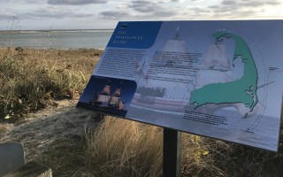 This display at the Chatham Lighthouse Overlook gives visitors an overview of the Mayflower's journey between Nov. 9 and 11, 1620. TIM WOOD PHOTO  (photo: Tim Wood)