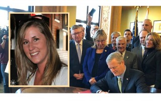 The bill signed by Gov. Baker this week was inspired, in part, by the story of Katie Brannelly (inset).  (photo: )