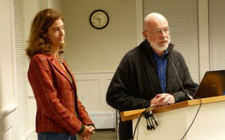 Housing Assistance Corporation CEO Alisa Magnotta and Community Development Partnership CEO Jay Coburn offered insights at last week's selectmen's meeting on how towns can pursue and manage affordable housing.  ED MARONEY PHOTO  (photo: Ed Maroney)