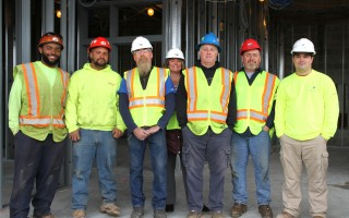 Some of the Cape Tech alumni who are working on the new school building. ALAN POLLOCK PHOTO  (photo: Alan Pollock)