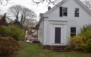 The historical commission hopes that zoning incentives might help save historical homes like this one on Stage Harbor Road, which was demolished to make way for a new house. FILE PHOTO  (photo: Tim Wood)