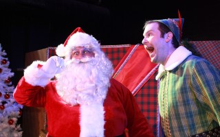 "Alex Perry as Santa and Matt Kohler as Buddy in ""Elf, the Musical."" HANNAH MCLAUGHLIN PHOTO  (photo: Hannah McLaughlin)"