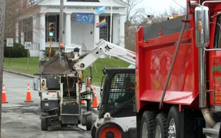 Crews repave a portion of Route 28 after last year's utility work.   FILE PHOTO  (photo: Alan Pollock)