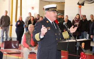 Fire Chief Norman Clarke, Jr., will be retiring on July 18 after 43 years of service. Just two weeks ago, Clarke dedicated the new East Harwich Fire Station. FILE PHOTO   (photo: Alan Pollock)