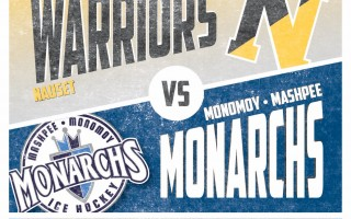 The Nauset Warriors and the Monomoy-Mashpee Monarchs have turned their season opener into a fundraiser for the Lower Cape Coyotes Youth Hockey Organization. Puck drops at 6 p.m. on Dec. 14. CONTRIBUTED PHOTO  (photo: )