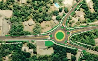 A roundabout proposed for the intersection of routes 28 and 39.  (photo: )