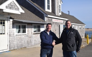 Steven Gennodie, left, has purchased the iconic Chatham Fish Pier Market from Andy Baler, right. TIM WOOD PHOTO  (photo: )