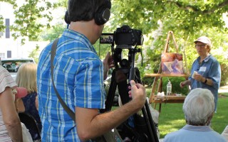 Johnny Bergmann films Andrea Petitto as she demonstrates her art in Orleans. COURTESY PHOTO  (photo: )