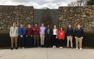 Thanks to a grant from the JFK Museum, MRHS Kennedy Years class members traveled to Hyannis to work on their final project for the semester, which is an overview of JFK's life both on the Cape and his presidency. The museum holds one-of-a-kind photos, taken by JFK's official photographer Jacques Lowe, so it is the