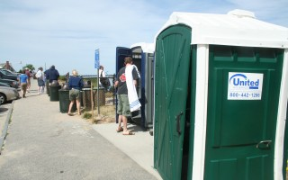 Portable toilets were first placed at the Lighthouse Beach Overlook in 2007. FILE PHOTO   (photo: Tim Wood)