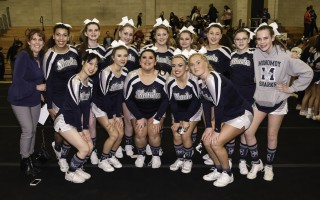 After spending fall and winter on the sidelines of football and basketball, Monomoy High School's cheerleading team made it all the way to the Regionals in competition this season. Kat Szmit Photo  (photo: )