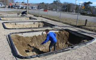 The upgrades were underway at the Trampoline Center on Monday as Zack was excavating the trampoline pits there. WILLIAM F. GALVIN PHOTO  (photo: William F. Galvin)