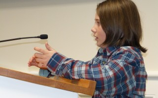 Owen O'Reilly spoke up for a new mini-ramp at the community preservation committee meeting on Feb. 27. The board is recommending $54,500 to make it happen.  ED MARONEY PHOTO  (photo: Ed Maroney)